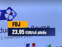 Cổ phiếu công ty xổ số FDJ của Pháp bật tăng mạnh trong ngày lên sàn