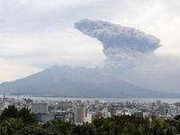 Núi lửa ở Tây Nam Nhật Bản phun trào mạnh nhất trong hơn 3 năm