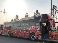 Cận cảnh chiếc xe đón ĐT bóng đá nữ và ĐT U22 Việt Nam