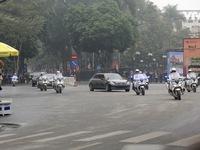 Ảnh: Nhìn lại cảnh đoàn xe của Chủ tịch Triều Tiên Kim Jong-un tiến vào thủ đô Hà Nội