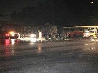 Xe khách tông xe đầu kéo, 1 người chết, nhiều người bị thương