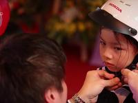 Tỷ lệ trẻ đội mũ bảo hiểm tăng lên 52#phantram