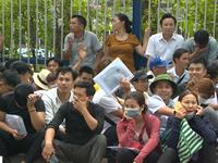 Người dân xếp hàng từ 1h sáng để xin visa đi Hàn Quốc