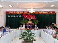 Tiểu ban văn kiện Đại hội XIII làm việc tại Khánh Hòa