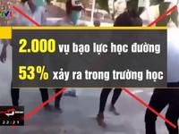 Mỗi ngày có tới hơn 5 vụ bạo lực học đường xảy ra tại Việt Nam