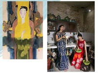 Art exhibition about women held at the Green One UN house