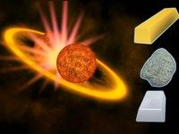 Kim loại quý được tạo ra do va chạm giữa 2 ngôi sao
