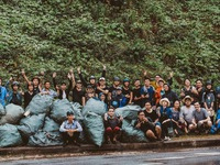 Da Nang youth work together to clean environment