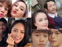 Loạt ảnh selfie 'yêu hết nấc' của dàn diễn viên phim Về nhà đi con