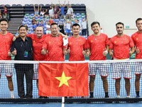 Tennis: Vietnam win overall top spot at Davis Cup - Asia/Oceania Group III
