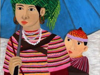 Painting by Vietnamese hearing-impaired artist on display in Italy