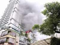 Cháy lớn ở phố Núi Trúc, Hà Nội
