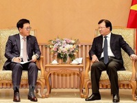 Deputy PM hosts CEO of Lotte Asset Development