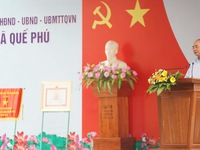 PM attends ceremony to recognise Que Phu as new-style rural commune