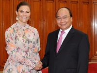 PM Nguyen Xuan Phuc hosts Swedish Crown Princess