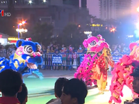 Lion dance competition in Nha Trang