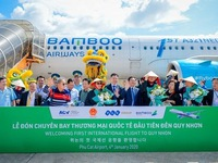 Phu Cat airport welcomes first international flight