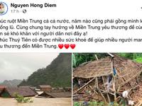 Dàn diễn viên Việt xót xa cho miền Trung bão lũ