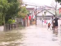 Thành phố Hà Tĩnh bị ngập sâu, toàn bộ hoạt động của thành phố bị tê liệt