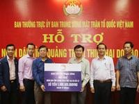 MTTQ Việt Nam ủng hộ 5 tỷ đồng và 10 căn nhà cho người dân bị lũ lụt ở Quảng Trị