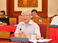 Politburo works with Standing Committee of the Police Party Central Committee