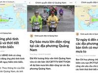 Quảng Nam cập nhật tình hình và cách ứng phó mưa lũ cho người dân qua Zalo