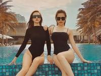 Huyền Lizzie - Phanh Lee diện đồ đôi sang chảnh cực giống chị em