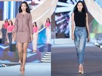 Hoa hậu Đỗ Mỹ Linh, Tiểu Vy để mặt mộc tổng duyệt đêm thi Người đẹp thời trang