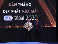 Quang Hải giành giải bàn thắng đẹp nhất V.League 2020