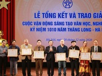 Winners of literary and artistic campaign in celebration of 1010th anniversary of Thang Long – Hanoi