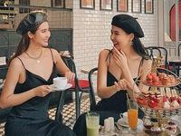 Phanh Lee và Huyền Lizzie lại làm nức lòng khi diện đồ đôi chụp chung