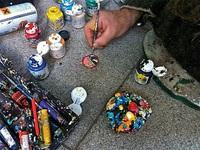 Biến bã kẹo cao su thành… tác phẩm nghệ thuật