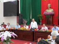 PTTg thường trực Trương Hòa Bình làm việc tại tỉnh Vĩnh Long