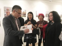 Exhibition features photos and sculptures about Vietnam
