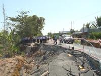 Khảo sát sụt lún đất ở Cà Mau