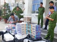 Ba vụ buôn lậu khẩu trang, thuốc lá bị phát hiện trong một đêm tại Long An