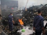 Cháy nổ tại trại tị nạn ở Dải Gaza, nhiều người thương vong