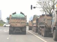 Hà Nội: Xử lý xe quá tải, làm rơi vãi vật liệu ra đường từ các điểm nóng