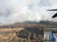 Ukraine ghi nhận mức phóng xạ cao sau cháy rừng