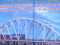 Bộ Giao thông Vận tải ra quân thi công dự án cải tạo đường sắt Bắc - Nam