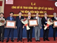 People's 115 Hospital receives three Asian records