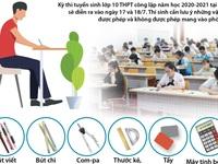 [INFOGRAPHIC]  Thi vào lớp 10 Hà Nội: Những vật dụng được phép và không được phép mang vào phòng thi