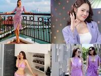 Bảo Thanh, Huyền Lizzie, Lã Thanh Huyền 'ào ào' đuổi theo trend tím tử đinh hương