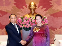 NA Chairwoman receives new Cambodian Ambassador