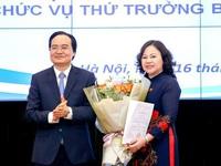 Trao quyết định bổ nhiệm tân Thứ trưởng Bộ Giáo dục và Đào tạo Ngô Thị Minh