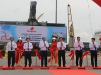 Long An international port's phase 1 inaugurated