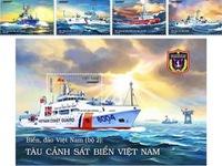 Stamp set on Vietnam Coast Guard vessels issued