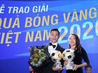 Văn Quyết và Huỳnh Như chia sẻ sau khi giành Quả bóng Vàng Việt Nam 2020