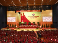 Press release on opening session of 13th National Party Congress