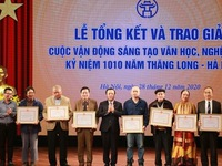 Winners of literary and artistic campaign in celebration of 1010th anniversary of Thang Long - Hanoi